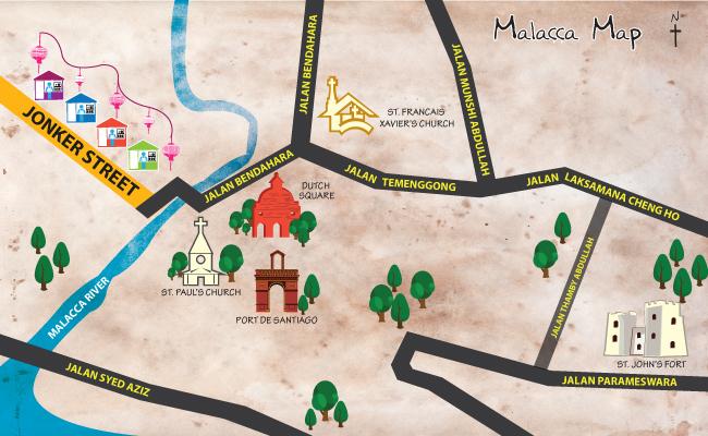 トラベル マラッカ地図