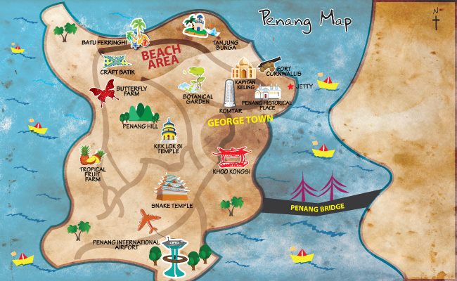 トラベル ペナン島地図