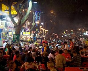 Busy food street