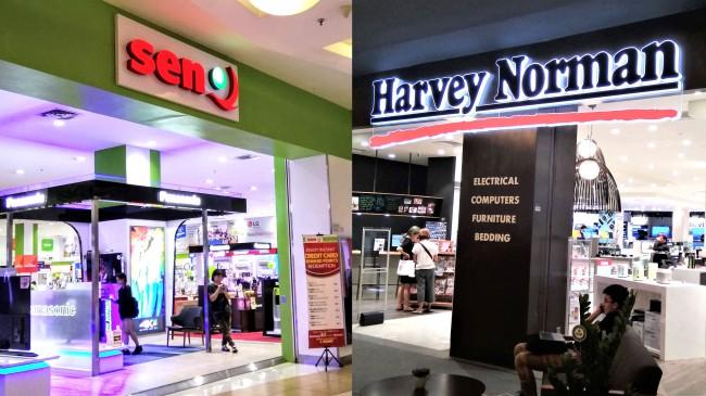 マレーシアの家電専門店、Harvy Norman とSenQ