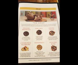 6種類の葉っぱが選べるお茶