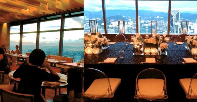 マレーシアのノブレストランからの眺め