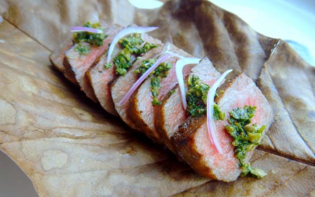 NOBU Restaurant-Wagyu Beef With Con Hierbas