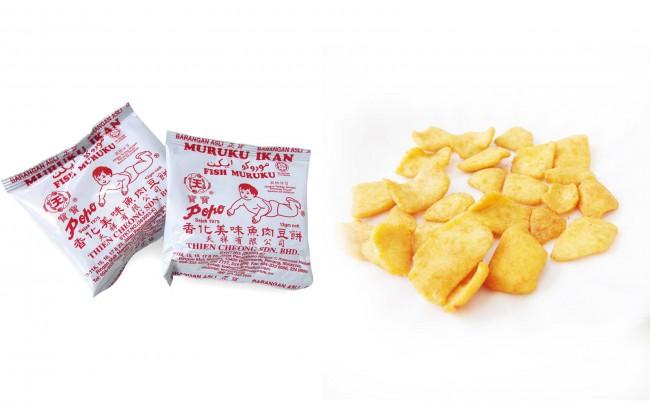 マレーシアのスナック菓子 ムルク イカン