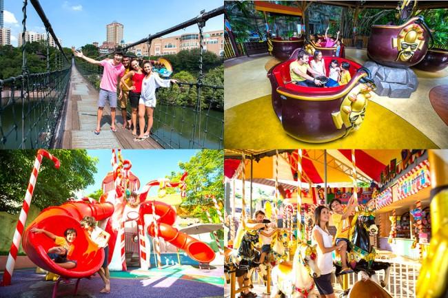 マレーシアのテーマパーク、サンウェイラグーンSunway Lagoonの遊園地