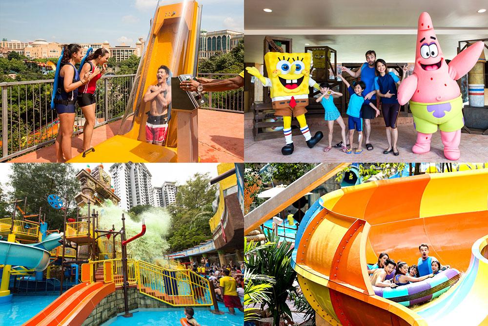 マレーシアのテーマパーク、サンウェイラグーンSunway Lagoonのニコロデオンのテーマパーク