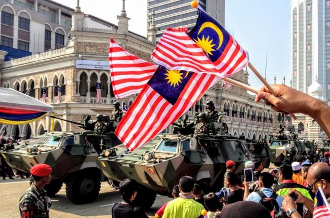 マレーシア独立記念日 Merdaka Day のパレード