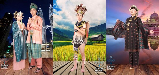 マレーシアの伝統衣装を着て写真撮影ができるCulture House