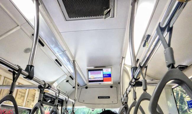 Rapid KL クアラルンプールを走る公共バス 次のバス停を表示するモニター