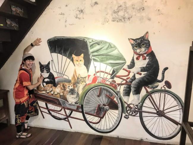 ペナン島ジョージタウンのストリートアート、101 Lost kittens