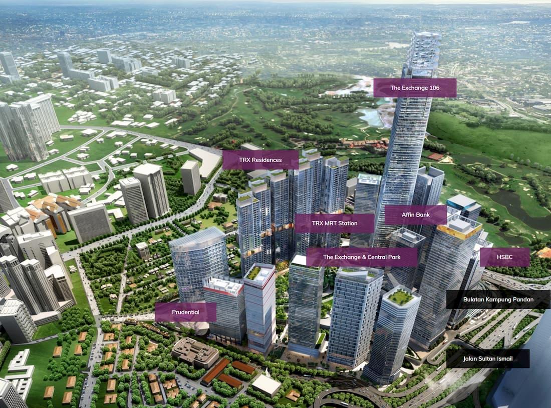西武デパートがクアラルンプールの金融特区TRXに2021年にオープン