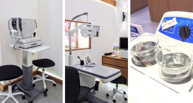 日本の店舗と同じ検査機器やメガネ洗浄機を完備したメガネ侍