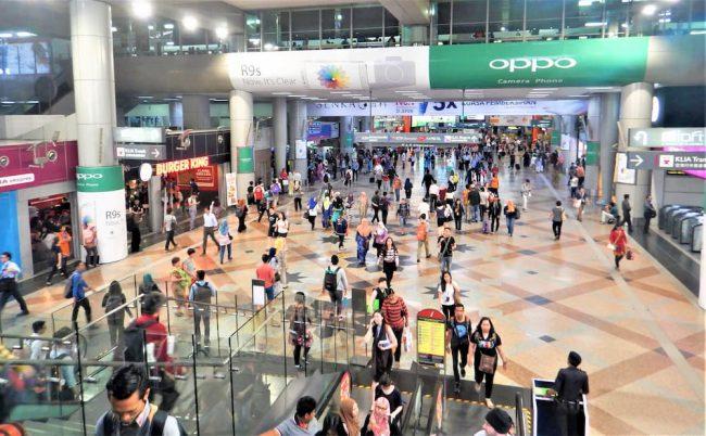マレーシアの首都、クアラルンプールのハブ駅、KL セントラル駅